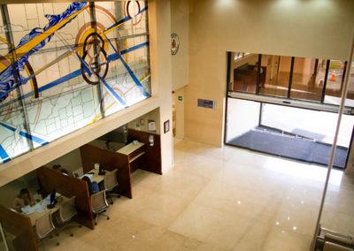 Vista superior Lobby Hospital La bene