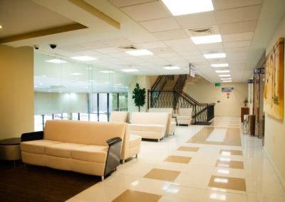 Sala de estancia segundo piso Hospital La Bene