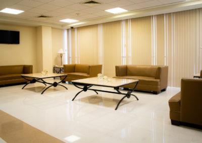 Vista sala de estancia Hospital La bene