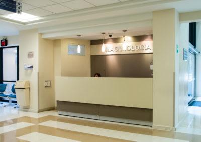 Recepción imagenología Hospital La Bene